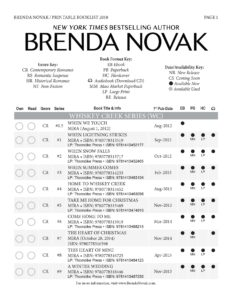 book titles pdf brenda novak