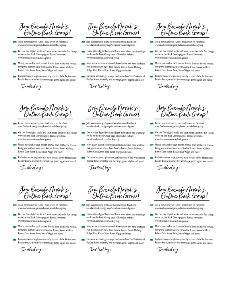 Group Invite Print Page 1