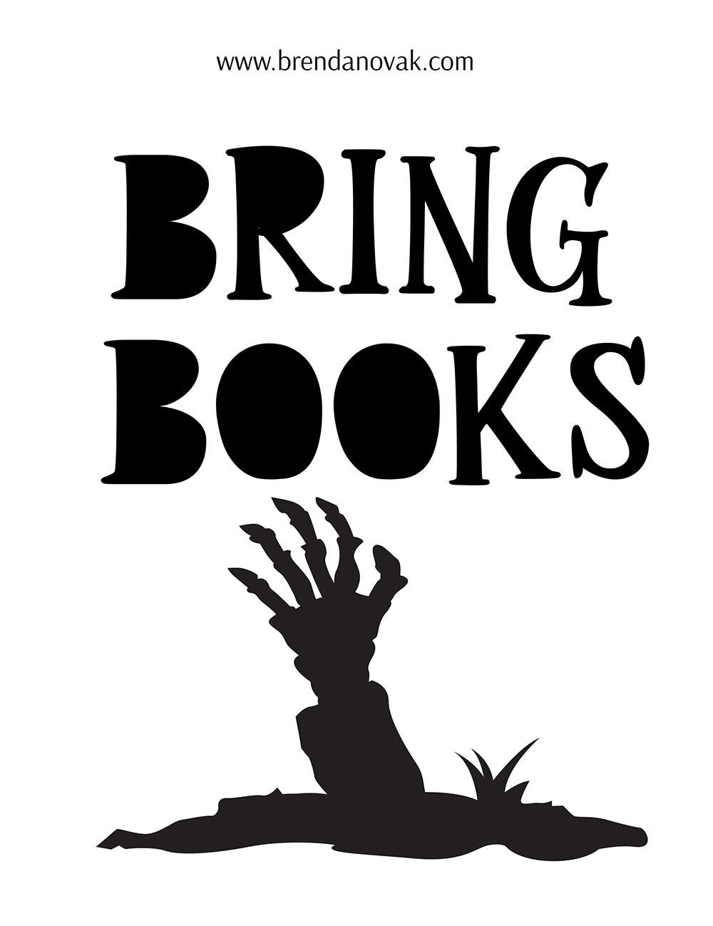 Bring Books Halloween Stencils