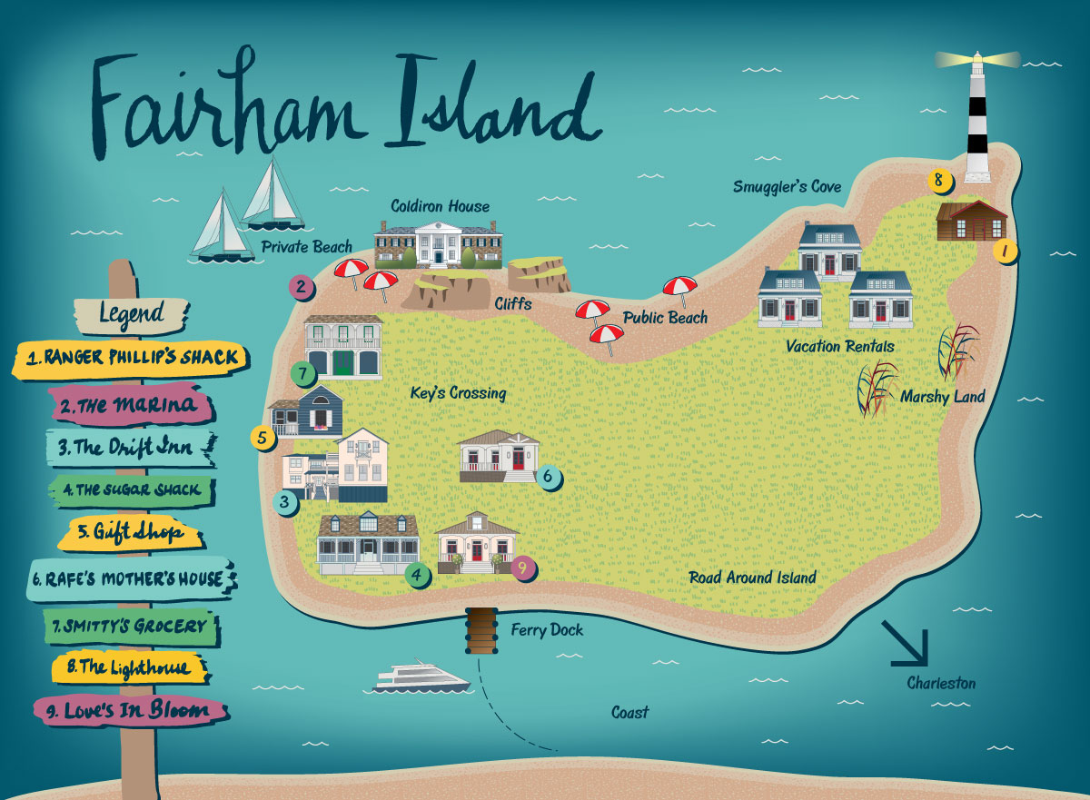 Fairham Island Map