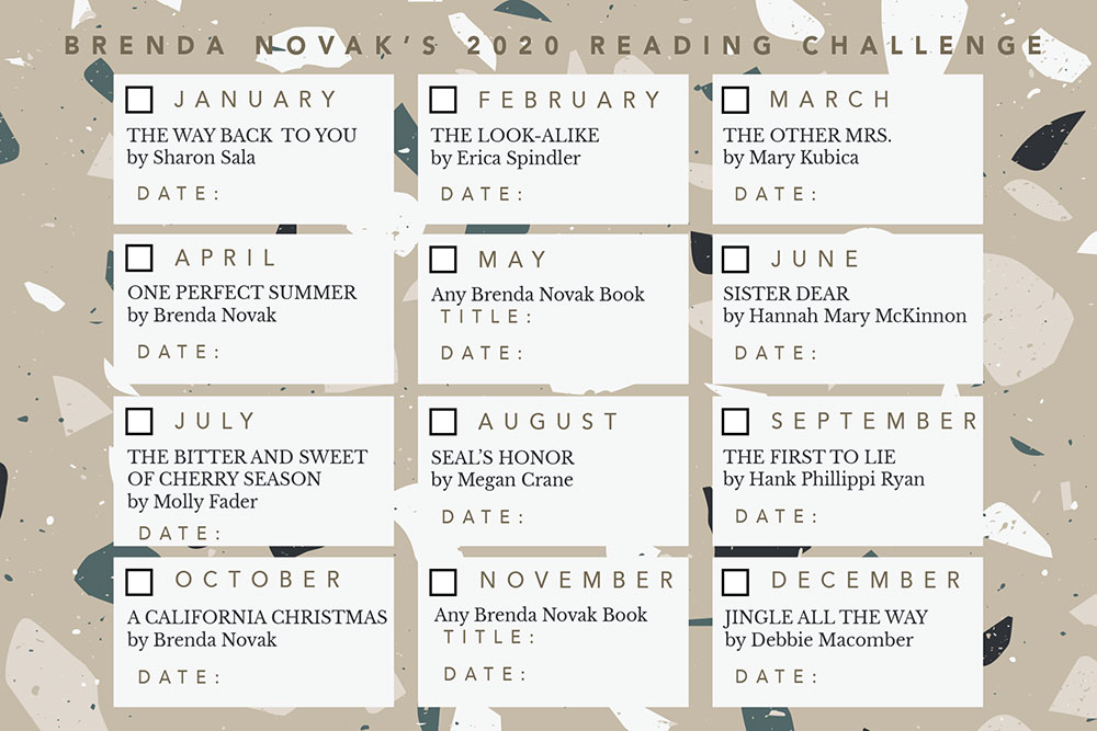 2020 Reading Challenge Card (updated November 2020)