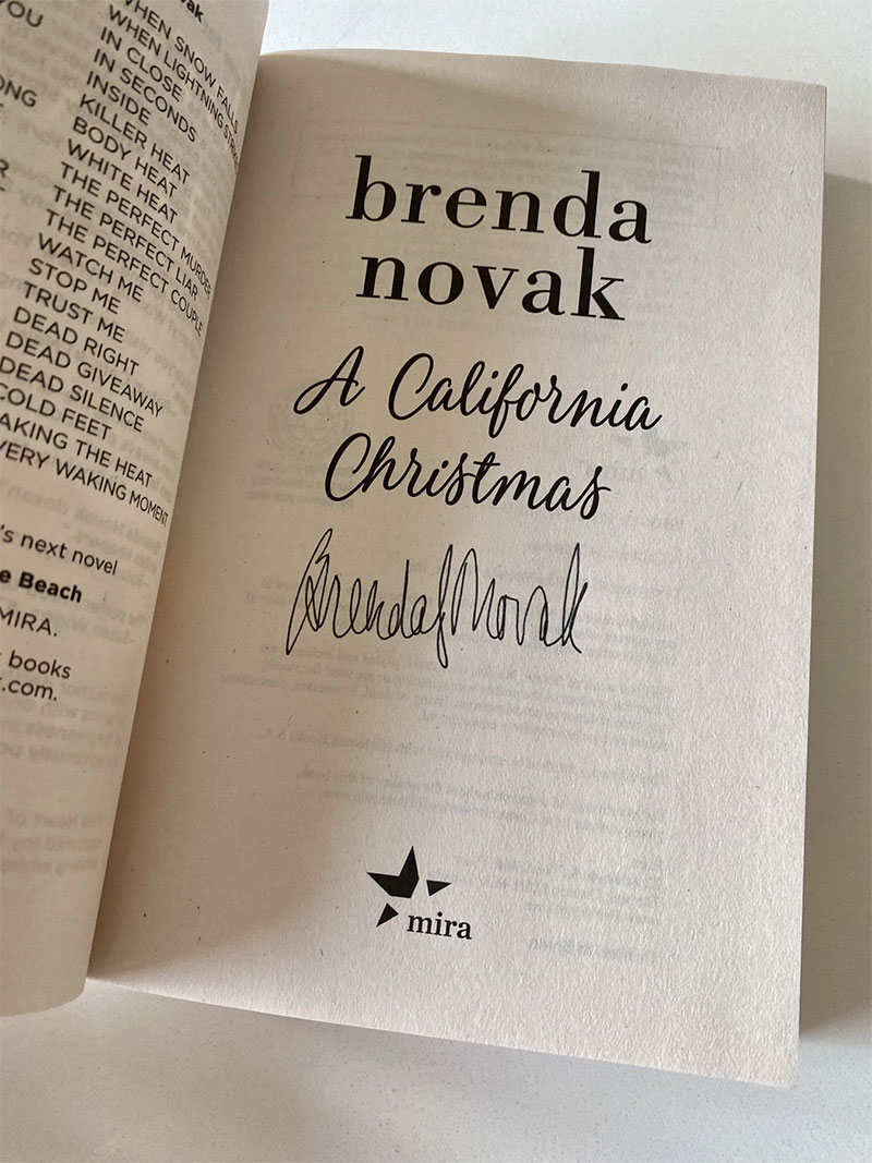 Autographed Copy of A CALIFORNIA CHRISTMAS