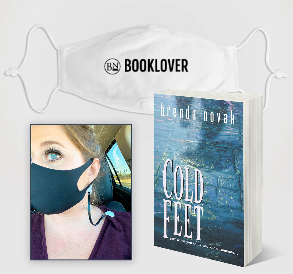 February 2021: Enter this month's drawing for a chance to win FEB 2021: Win a bookish mask and clip with a signed copy of COLD FEET